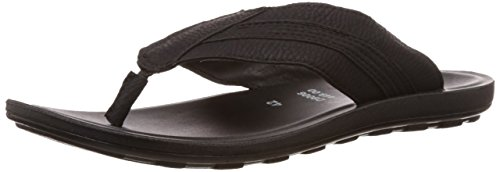 FLS (By Franco Leone) Men's Black Flip Flops Thong Sandals - 9 UK/43 EU  available at amazon for Rs.269