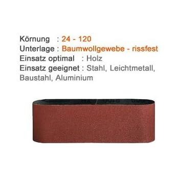 5x Bandschleifer Schleifbänder Schleifband Schleifpapier 30mmx533mm K240
