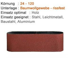 Preisvergleich Produktbild 3 Gewebe Schleifbänder für Holz und Metall - 25 x 760 mm Korn 180, Made in Germany