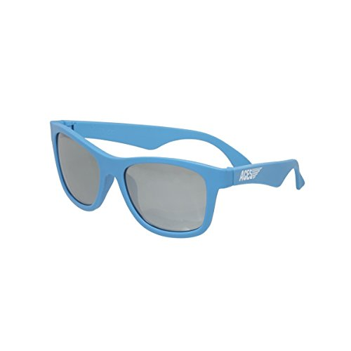 Preisvergleich Produktbild Aces by Babiators Kinder Sonnenbrille Navigator, UV-Schutz, 6-13 Jahre, BPA frei, Blue Crush, Mirrored Lenses