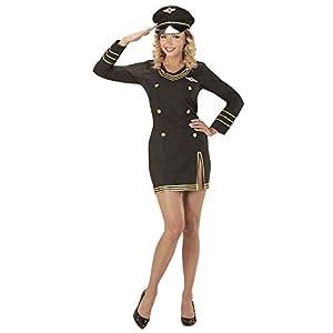WIDMANN wdm06859?Disfraz Capitán Piloto, Negro, Small