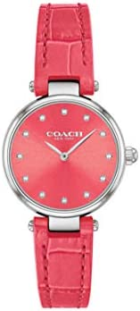 Coach Women'S Dark Pink Dial Dark Pink Calskin Watch - 1450