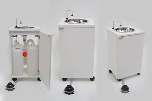 Lavello portatile, indipendente da rete idrica ed elettrica, certificato, mod. basic bianco