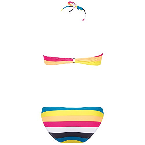 Chiemsee Damen Bikini / Badeanzug Ebony Stripe Cabaret