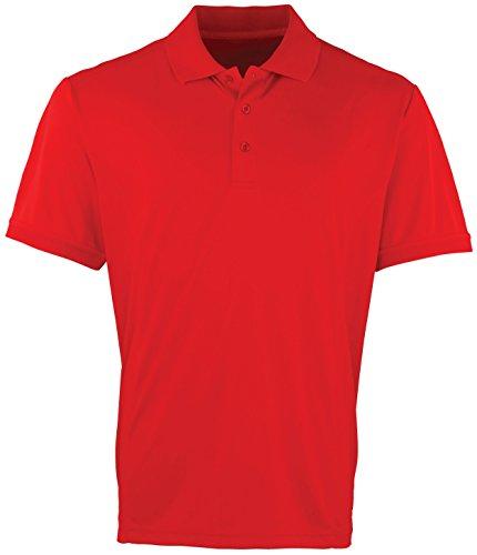Kühler Premier Checker Pique Polo - 16 Farben / Sml-3XL Red