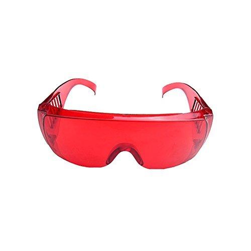 Dental Schutzbrille für Zähne Whitening Aushärtelampe UV-Goggle Transparent Rot Farbe