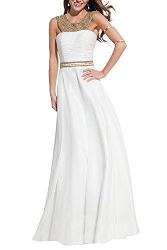 Bridal_Mall - Robe de mariage - Trapèze - Sans Manche - Femme Blanc