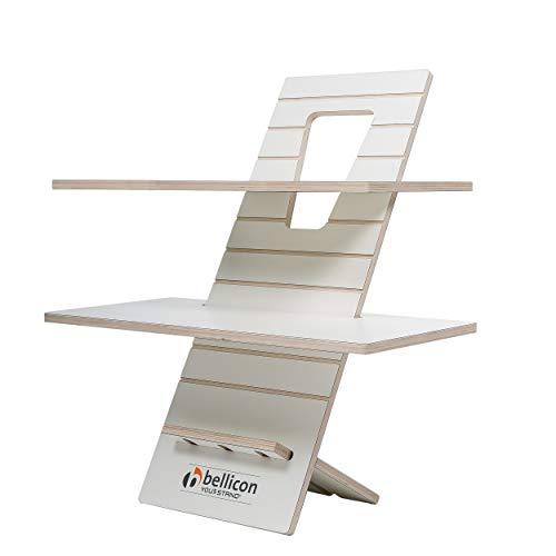 bellicon You-Stand XL White Edition: Für Das Arbeiten im Stehen! Ergonomisch, höhenverstellbar, Steh-Schreibtisch,Steh-Sitz-Workstation, Laptoptisch (FSC geprüft)
