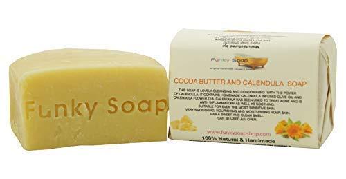 Funky Soap Kakaobutter & Calendula Seife 100% Natürlich Handgefertigt, 1 bar Of 120g