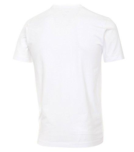 Venti - Slim Fit - Herren T-Shirt mit Rundhals im 2er Pack, schwarz oder weiß (001650) Weiß (001)