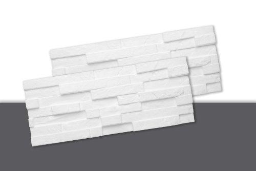 Decosa Creativstein Sierra (Schichtstein-Optik), weiß, 20 x 50 cm (= 0,5 qm)
