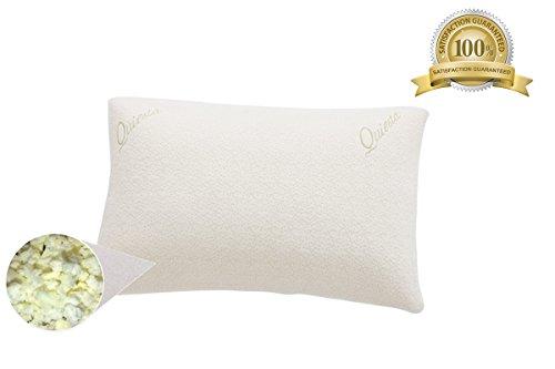 quiesta-memory-flake-pillow-memory-foam-interior-bamboo-fabric-case