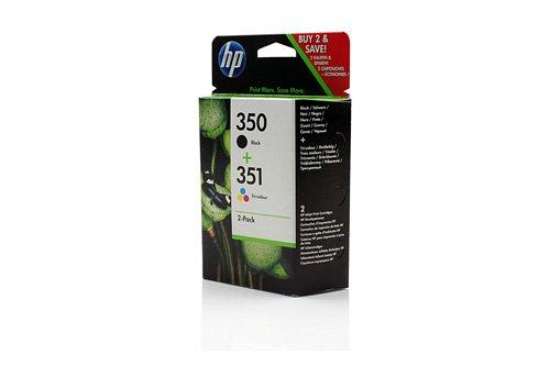Original HP SD412EE / 350, 351, für PhotoSmart C 4385 2X Premium Drucker-Patrone, Schwarz, Cyan, Magenta, Gelb, 4,50 & 3,50 ml (Drucker C4240 Hp)