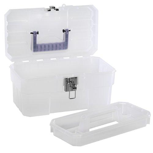 Akro 14 (akro-mils 09514CFT 35,6cm Kunststoff Art Supply Craft Aufbewahrung Tool Box, semi-clear)