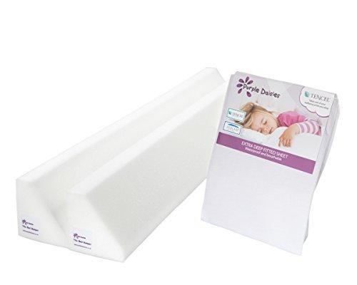 La Cama Y Cierre Magnético 100cm doble cartucho espuma cuna de cama de niño Guardia Rail + extra de profundidad sábana bajera ajustable de resistente al agua TENCEL hoja