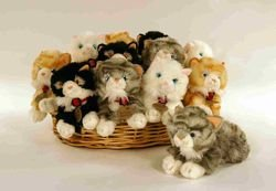 4-laying-cats-25cm-cuddly-soft-toys-assorted-breeds