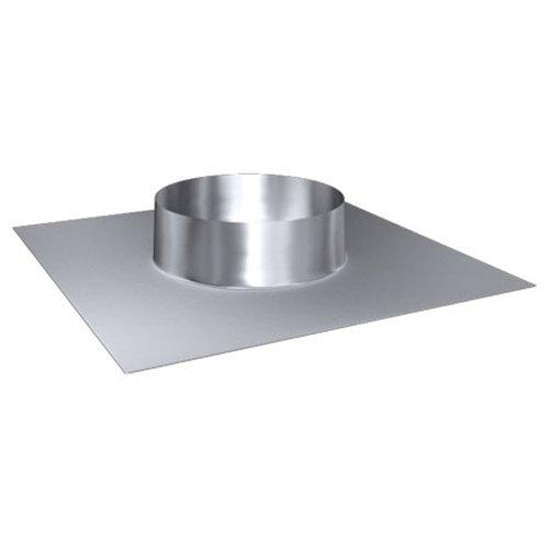 MK sp. Z o.o. Schornstein, Dachdurchführung 0°-5°, Edelstahl, Lochdurchmesser 180 mm (DW 100) Edelstahl glänzend Keine Farbe wählbar