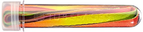 Tubelaces White Flat Schnürsenkel, Mehrfarbig (Rainbow) 111-120 cm, 5er Pack
