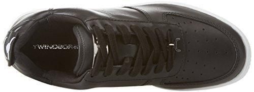 Windsor Smith RACERR, Sneaker Donna Multicolore (Leather Black/White Sole)