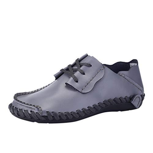 Morran Herren Leder Schnürschuhe Herren Atmungsaktive Low-Top-Flache Schuhe Frühling Herbst Lederschuhe Formelle Business-Arbeit Comfy Mokassins