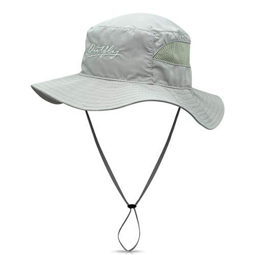 DORRISO Sonnenhut Herren Damen UV Schutz Safari Hut Faltbar Wanderhut Gartenhut Fischerhut