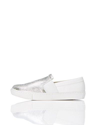 FIND Damen Slip-On Sneaker, Silber (Silver), 41 EU (Schuhe Slip-ons)