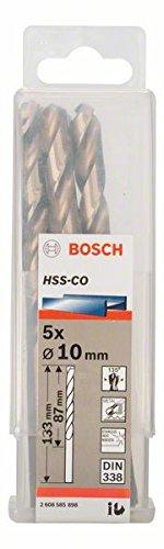Bosch Professional Metallbohrer HSS-Cobalt (5 Stück, Ø 10 mm)