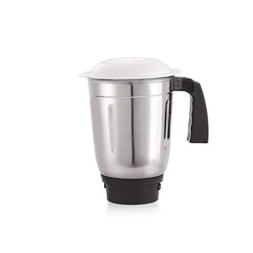 iVBOX Universal 1 Pc Single Stainless Steel Grinding Jar Ideal/Compatible for All Brands and Type of Mixer Grinder, Silver