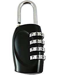 DOCOSS-4 Digit Metal Number Lock Bag Lock Small Travel Lock Luggage Resettable Password Locks Combination Locks...
