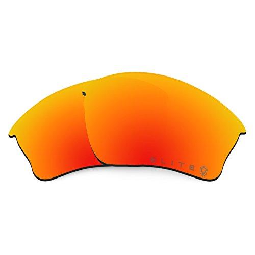 Verres de rechange pour Oakley Half Jacket XLJ Asian Fit — Plusieurs options Polarisés Elite Owyhee Rouge MirrorShield®