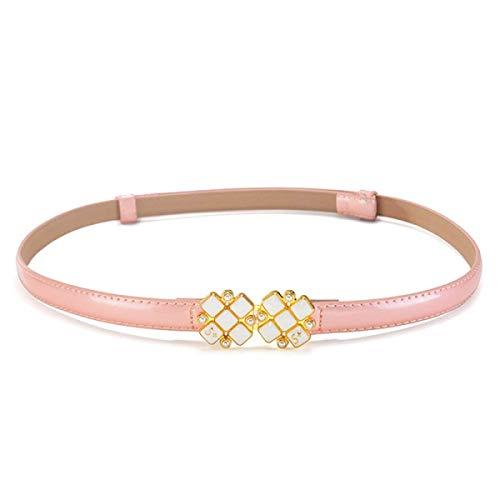 Yisaesa cintura in pelle da donna cintura decorativa con fibbia semplice diamond brillante (colore : rosa, dimensione : taglia unica)