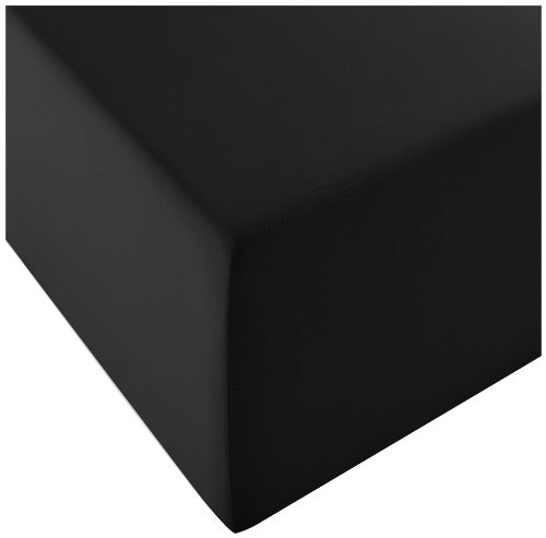 Dream Art Cora Stretch-Jerseyspannlaken, schwarz, 180 x 200 cm