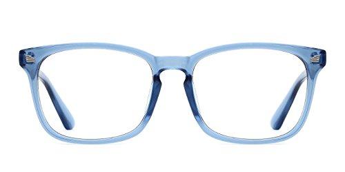 TIJN Retro Damen Herren Wayfarer Nerd Brille Ohne Stärke Hornbrille Sehhilfen