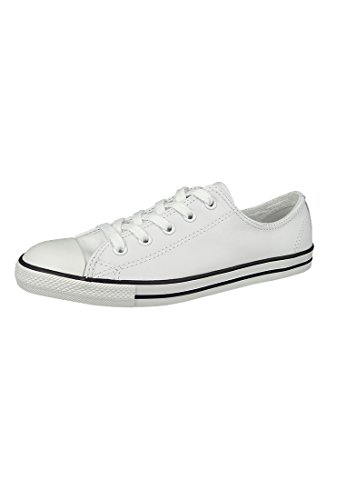Converse - Dainty Leath Ox, Sneaker basse Donna White