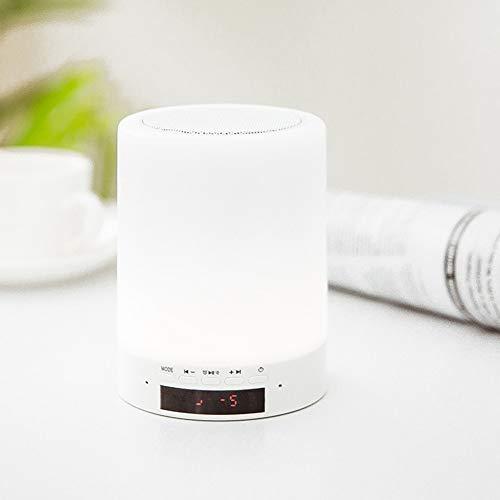Preisvergleich Produktbild xihongshi Tischleuchte LED Kreative Bluetooth Audio Umgebungslicht Geeignet Für Wohnzimmer Schlafzimmer Nacht Schlafsaal White