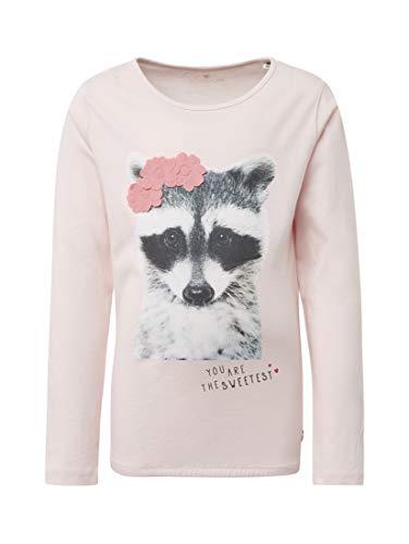 TOM TAILOR für Mädchen T-Shirts/Tops Langarmshirt mit Brust-Print Ballet Slipper Rose, 128/134 Casual-ballet Slippers
