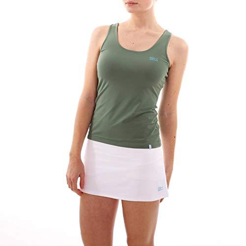 SPORTKIND Mädchen & Damen Tennis, Fitness, Running Tanktop, olivgrün, Gr. 128