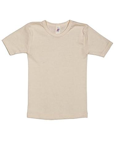 Wool/Silk Tee (Short Sleeve) Nat 104
