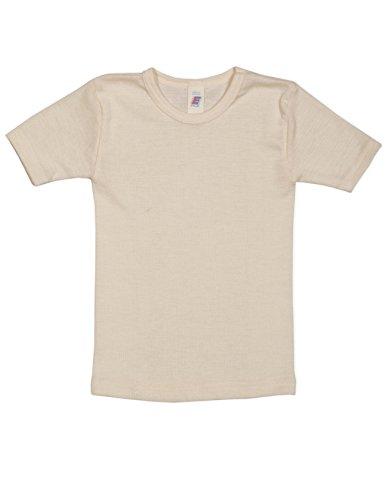 Engel, Unterhemd kurzarm, Wolle Seide, Natur, Gr. 140