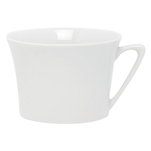 DEGRENNE - Boréal Lot de 6 Tasses à déjeuner, Porcelaine - Blanc