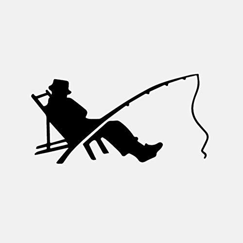 CZXHJT Autoaufkleber 15,9 cm * 8 cm Fischer Fisch Fischen Wurm Biss Haken Auto Aufkleber Decor Vinyl Aufkleber, 2 Stücke, Zeigt Persönlichkeit -