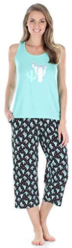 Sleepyheads Conjunto de Ropa de Dormir para Mujer, Pijama y Parte Inferior Recortada (SH1832-5033-EU-LRG)