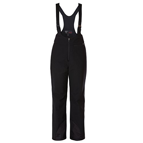 Fera Skihose (Fera Damen Stowe Stretch Lätzchen, Damen, schwarz, Size 8/Long)