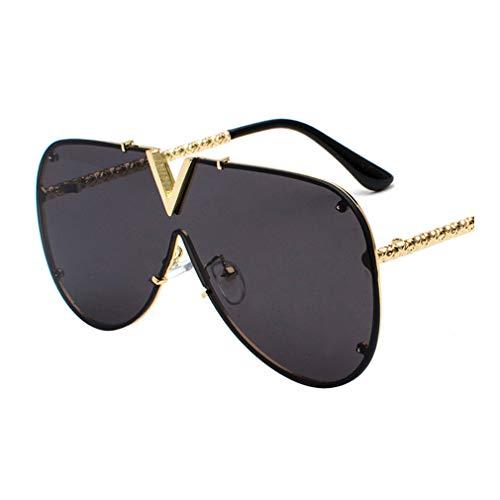 Fauhsto Trendige Sonnenbrille f¨¹r Herren Damen-Fahren Sunglasses Metall Rahme UV400 Schutz Ideal zum Autofahren St?dtetouren Eyeglasses