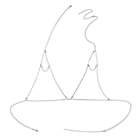 La Taille Des Robes Dété - MagiDeal Chaîne de Corps Sexy Forme Triange