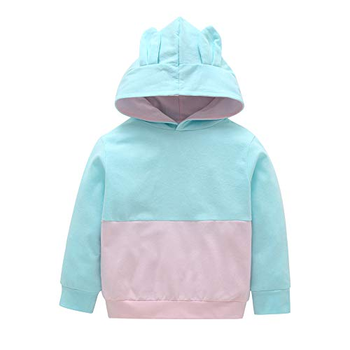 Oyedens Jungen und Mädchen Kapuzenpullover Farbe passend langärmeliges Hemd Kleinkind Baby Kids Boy Girl Cartoon 3D Ohr Hoodie Sweatshirt Tops Kleidung Outfits ()