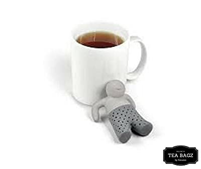 TEA-BAGZ/ Lot de 4 Infuseurs de Thé en forme de Mister T /En forme d'Homme Relax/Idéal pour une Infusion Bio/Tisane/Thé vert/ Thé noir/ Accessoires Home et Cuisine/ Diffuseur à Thé Original/ Diffuseur à Thé de Haute Qualité / Diffuseur de thé 100% silicon