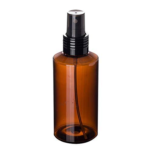 Kastilien Seife-paket (Man9Han1Qxi 100ml Spray Zerstäuberflasche nachfüllbar leerer kosmetischer Tonerspender-Sprüher Brown)