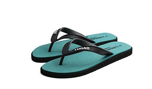 ALUK- Sandales d'été - Les personnages des hommes Drag The Anti-slip Sandales Outdoor Loisirs Chaussures de plage en caoutchouc ( Couleur : Vert , taille : 40 ) Vert