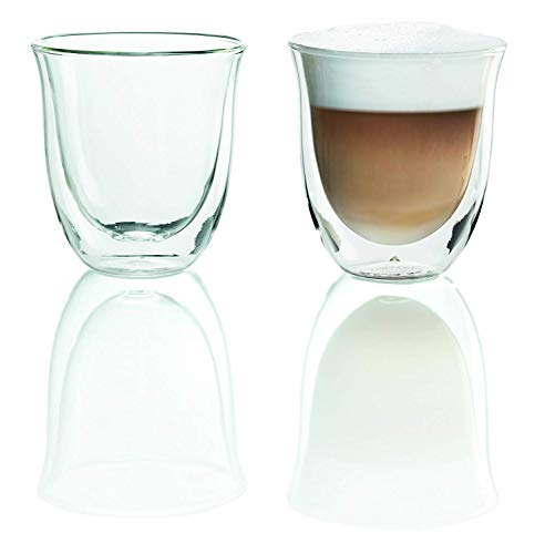 DeLonghi 5513214601 Isolierte Cappuccino-Glas 2er Set